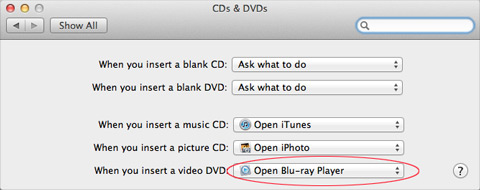 CDs&DVDs setting